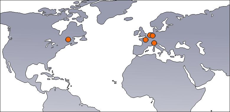 Mappa localizzazione server